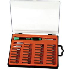 Precizni izvijači s prilagodljivo dolžino do 25 cm, 33-delni set