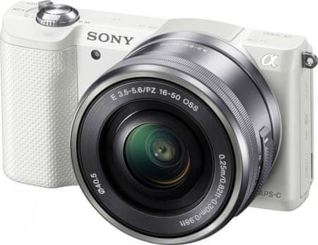 SONY Alpha 5000 ILCE-A5000L + 16-50mm Digitális fényképezőgép, Fehér