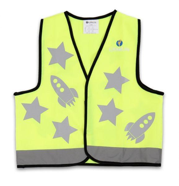 LittleLife Reflexní vesta zelená - Medium