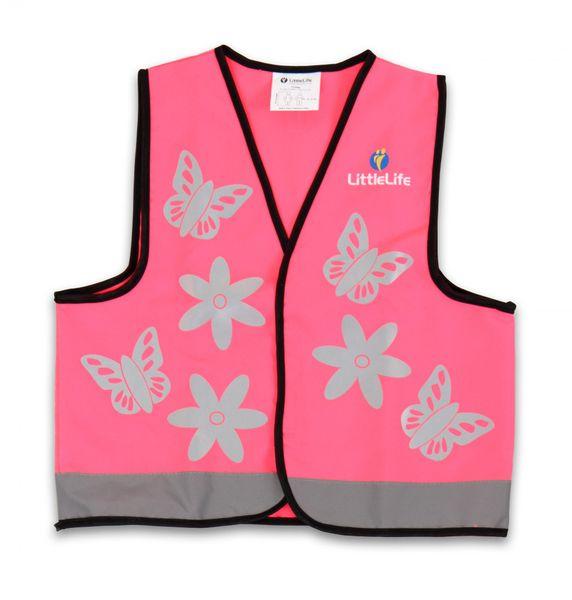 LittleLife Reflexní vesta růžová - Medium