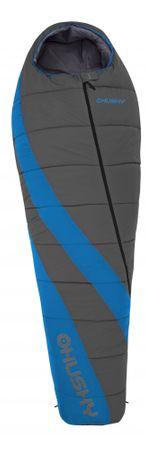 Husky Ember -14°C Hálózsák-bal, Szürke/Kék, 195 cm