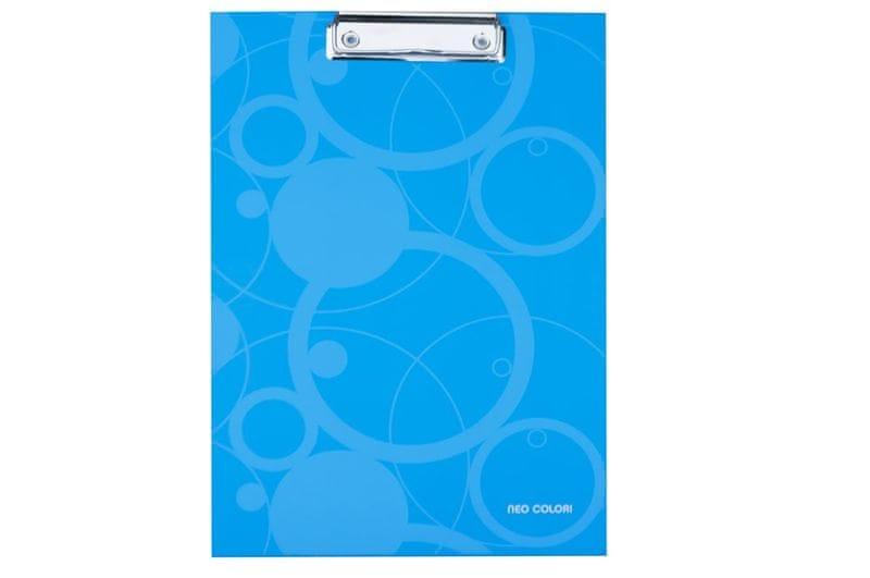 Karton P+P Podložka na psaní s klipem NEO COLORI modrá