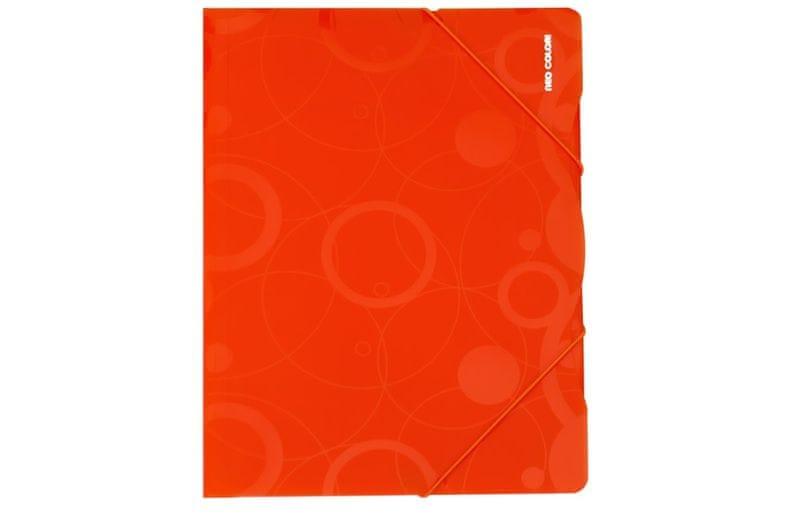 Desky s gumičkou NEO COLORI A4 oranžové