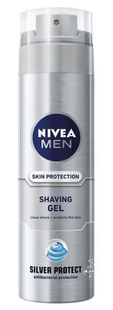 Nivea gel za britje Silver Protect, 200 ml