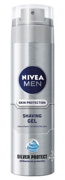 Nivea FOR MEN gel na holení Silver Protect 200 ml