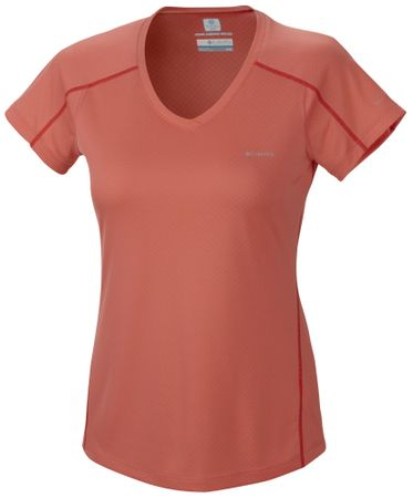 Columbia Zero Rules Short Sleeve Shirt Hot Coral L