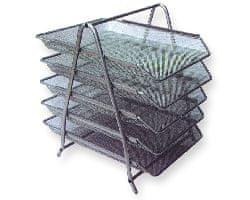 Net Predalnik za papir LD01-59-5, petdelni, srebrn