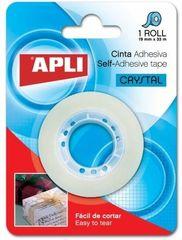 Apli Lepilni trak Apli, kristalno bel, 19 mm x 33 m