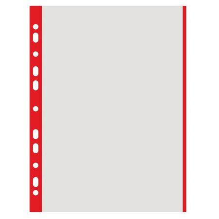 Donau Mapa 'U' A4 mat PP, 40mic (rdeč rob) 100/1