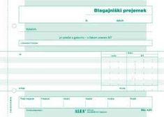 Alea Obrazec Blagajniški prejemek ALEA A5 samokopirni 6.61