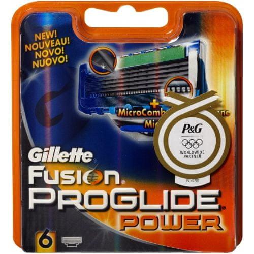 Gillette Fusion ProGlide Power - náhradní hlavice 6 ks
