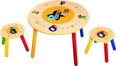 BINO Detský stolík + 2 stoličky Krtko
