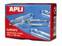 Apli Sponke APLI, št. 2, 32 mm, 1/100, srebrne