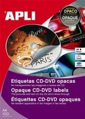 Apli Etikete za CD/DVD, premer 114 mm