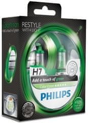 Philips ColorVision Zelená H7, 12 V, 55 W, 2 ks