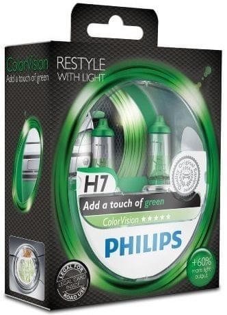 Philips ColorVision Zelená H7, 12 V, 55 W, 2 ks