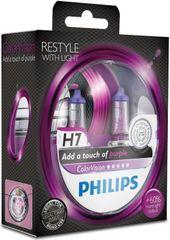 Philips ColorVision Fialová H7, 12 V, 55 W, 2 ks