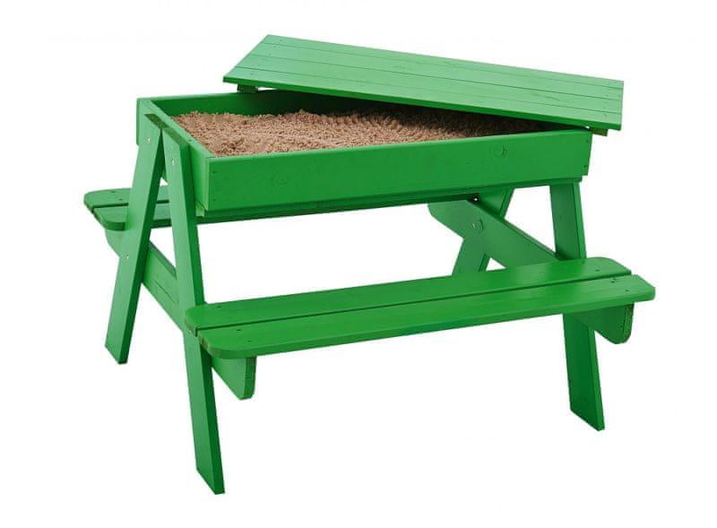 TRIGANO Stoleček dřevěný PIKNIK s prostorem pod deskou