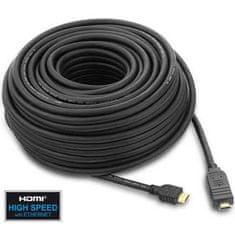 PremiumCord HDMI High Speed, 20 m, integrovaný zosilovač