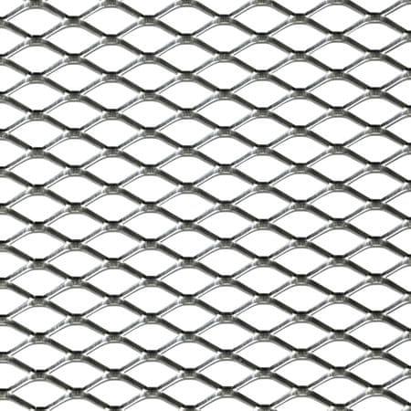Okrasna mreža za odbijač, 125 x 25 cm, aluminijasta, srebrna