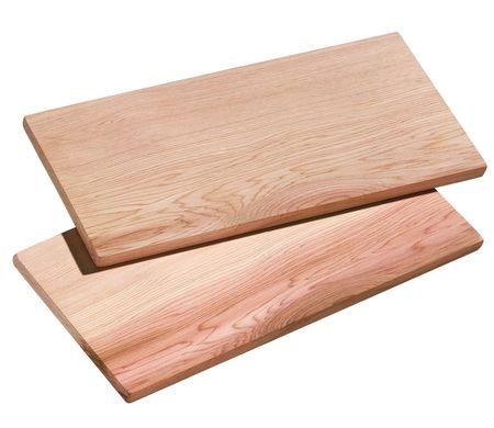 Küchenprofi Smoky cedrova deska, 2 kosa, 30 x 15 cm