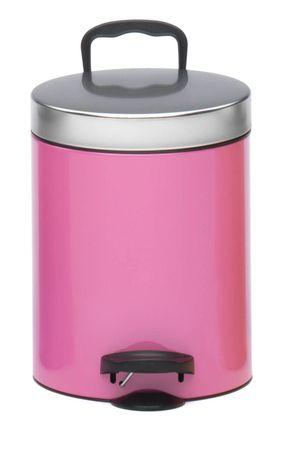 Meliconi koš s pedalom 5 l, roza