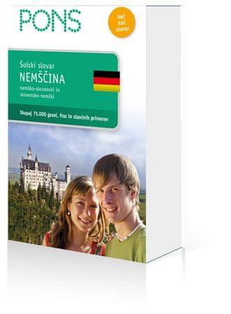 PONS šolski slovar nemščina (trda, 2008)