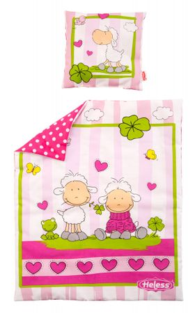 Heless Kołderka + poduszka dla lalki