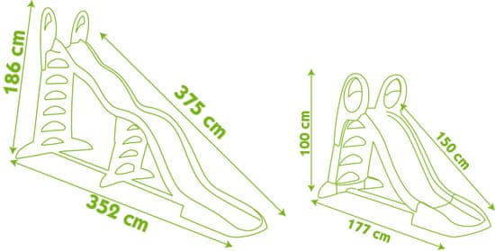 Smoby Skluzavka Super Mega 2v1, 150/375cm