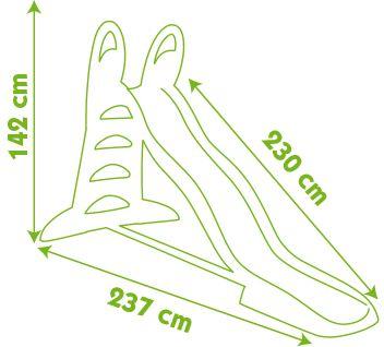 Smoby tobogan XL, 230 cm, vodni
