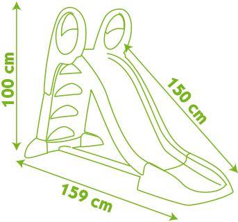 Smoby Skluzavka KS 150cm s vlhčením