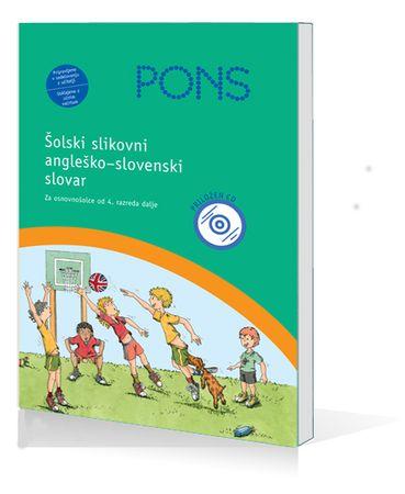PONS šolski slikovni slovar + CD (angleško-slovenski), Anette Dralle (trda, 2008)