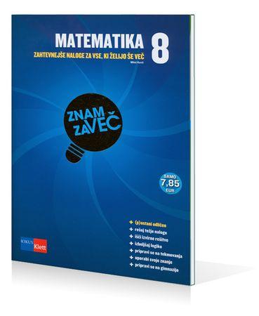 Zlati Znam za več - Matematika 8, Miloš Kovič (broširana, 2010)