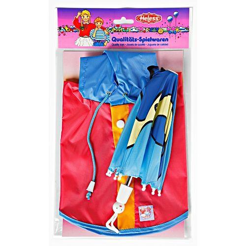 Heless Set do deště pláštěnka a deštník pro panenku