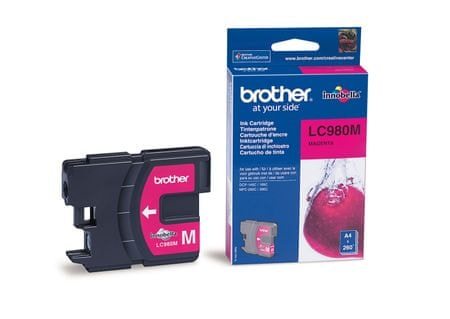 BROTHER LC980M, purpurová