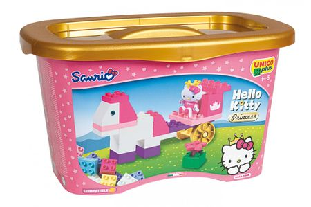 Unico Hello Kitty Księżniczka - Pudełko z klockami, 44 el.