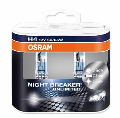 Osram 12V H4 60/55W P14.5s 2ks Night Break Unlimited