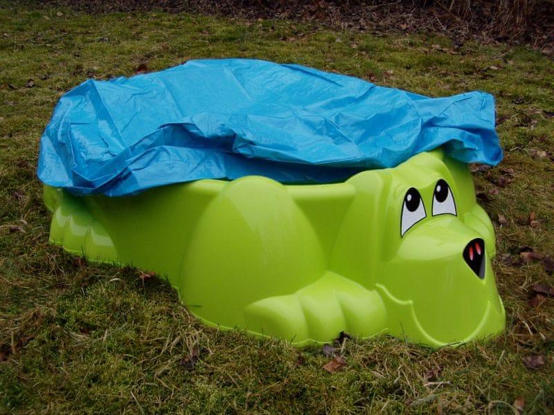 Marian Plast Pískoviště-bazének PES s plachtou zelená