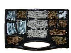 Vijci za drvo u kutiji – 620-dijelna garnitura vijaka, tipli i čepića