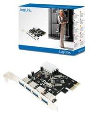 LogiLink PCI-E kartica za proširenja PC0057A, 4x USB 3.0