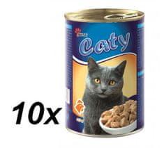 Akinu mačje konzerve Caty piščanec, 10 x 416 g
