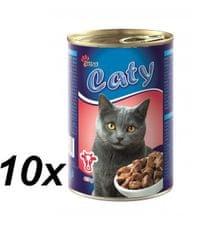 Akinu mokra karma dla kota Caty kawałki wołowiny w sosie - 10 x 416 g.