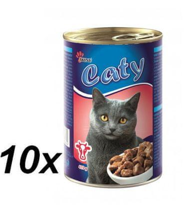Akinu Caty Macskakonzerv marhahússal, 10 x 416 g