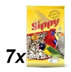 Akinu Sippy deluxe pre malé a stredné papagáje 7 x 450g