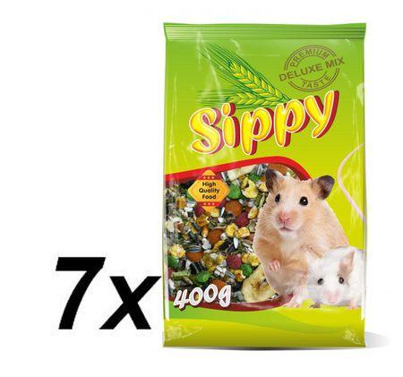 Akinu Sippy deluxe pro křečky a malé hlodavce 7 x 400g