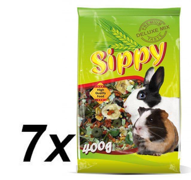 Akinu Sippy deluxe pre králiky a morčatá 7 x 400g
