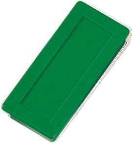 Dahle Magnet 23 x 50 mm, zelen, 10 kosov