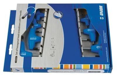 Unior garnitura inbus ključev s T ročajem v kartonu 193HXCS