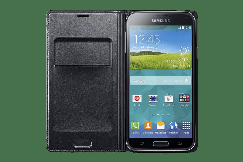 Samsung flip s kapsou EF-WG900B Galaxy S5, černý - II. jakost