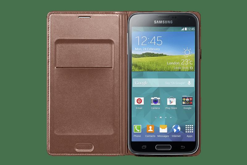 Samsung flip s kapsou EF-WG900B Galaxy S5, zlatý